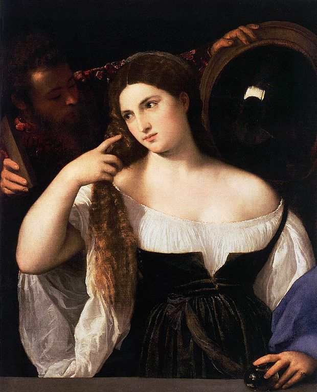 2018 Titian_-_Woman_with_a_Mirror_-_WGA22913